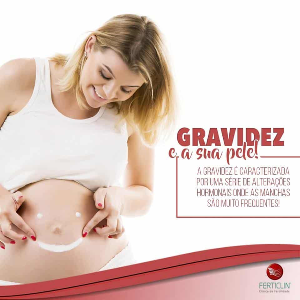 A pele durante a gravidez