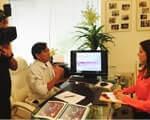 Dr. Raul Nakano concede entrevista para Rede Internacional de Televisão